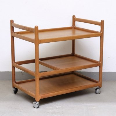 Teak Bar Trolley by Johannes Andersen for Silkeborg, 1960s