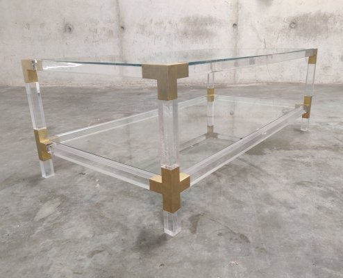 Lucite coffee table by Charles Hollis Jones, 1970s