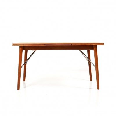 Extendable Dining Table in Teak by Peter Hvidt & Orla Mølgaard Nielsen
