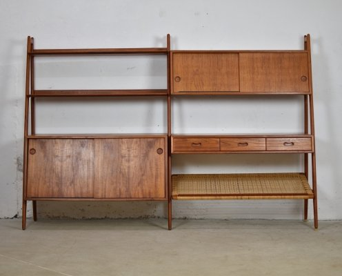 Rare bookshelf designed by Arne Vodder & Anton Borg for Vamo, Denmark 1950's