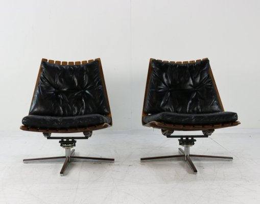 Set of two 'Scandianette' lounge chairs by Hans Brattrud
