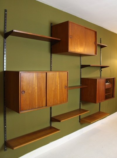 Danish wall unit by Kai Kristiansen for M system Feldballes Mobelfabrik, 60's