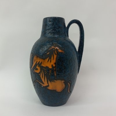 Mid-Century Scheurich West Germany vase with horses