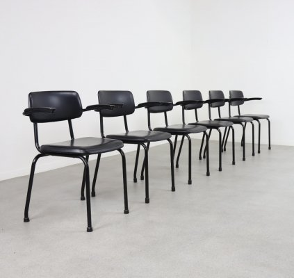 14 industrial stacking chairs by Ahrend de Cirkel, 1960s