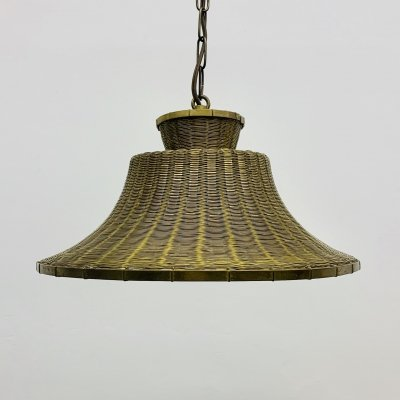 Mid-Century braided brass hanging lamp, 1950's