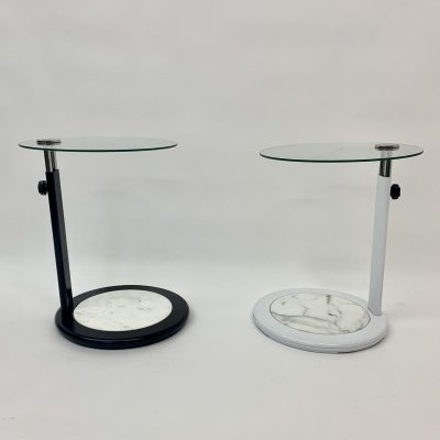 Set of 2 extendable side tables, 1980's