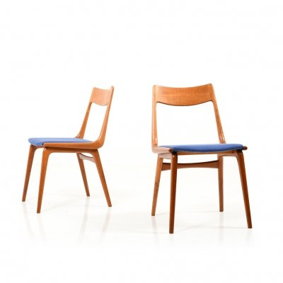 Pair of Teak Boomerang Chairs by Alfred Christensen