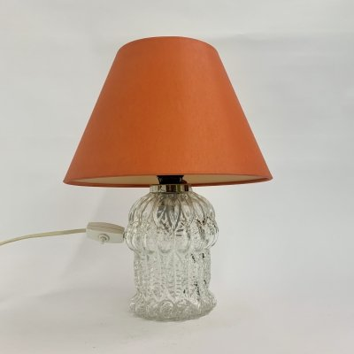 Vintage glass table lamp by Aro luchten, 1970's