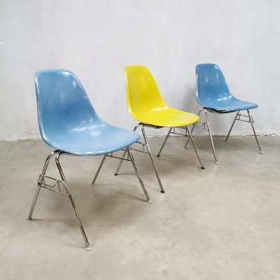 Vintage fiberglass shell chair by Charles & Ray Eames for Herman Miller