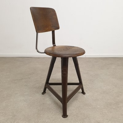 Rare Industrial Rowac Chair, 1930's