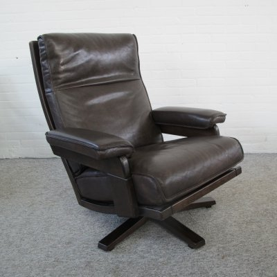 Vintage Mid Century Lounge Swivel Chair, 1970s