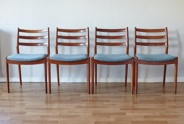 Model 191 Dining Chairs by Arne Vodder for Cado/France & Søn, Denmark 1960's