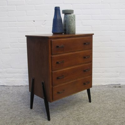 Small Vintage Chest of Drawers in Teak, 1960s