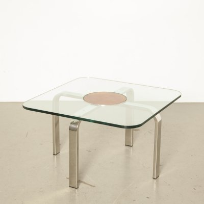Square glass Coffee Table, 1970s