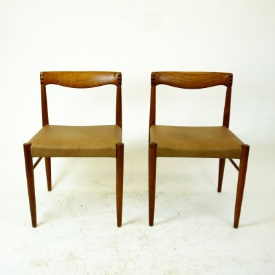 Pair of Danish Teak Dining Chairs by H.W. Klein for Bramin