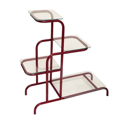 Metal & glass etagere by Kovona NP, Czechoslovakia, 1950s