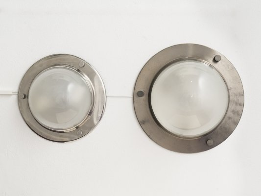 Pair of Tommy ceiling or wall lamps by Luigi Caccia Dominioni for Azucena, 1960s