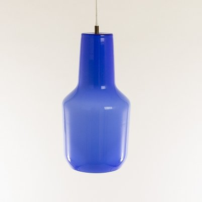 Blue pendant by Massimo Vignelli for Murano glass specialist Venini, 1950s