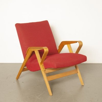 Armchair model 24-23 by František Jirák for Tatra Nabytok