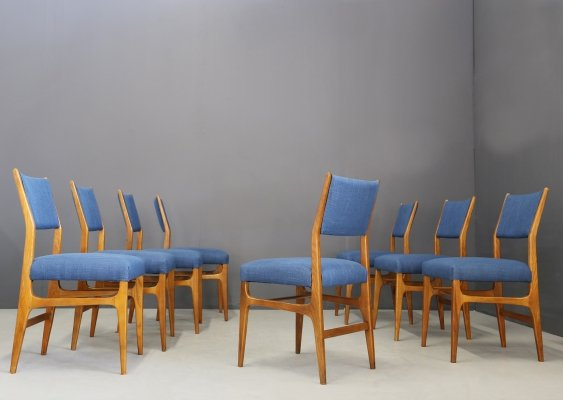 8 x Model 111 dining chair by Gio Ponti for Cassina, 1950s