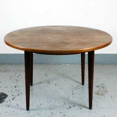 Circular Danish Teak Dining Table with two Extensions