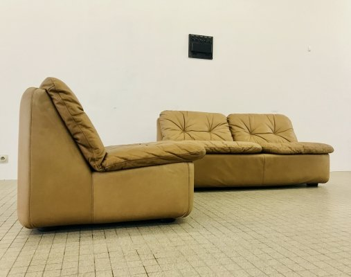 Vintage COR/Dreipunkt seating group in cognac leather, 1960s