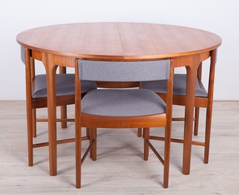 Mid-Century Teak Dining Table & Chairs set from McIntosh, 1960s