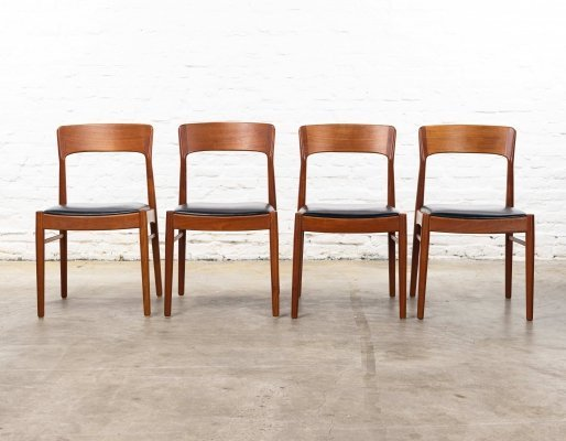Set of 4 dining chairs by Kai Kristiansen for Korup Stolefabrik, 1960s