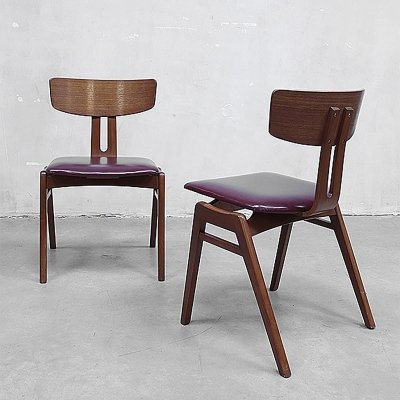 2 x dining chair by Cees Braakman for Pastoe, 1950s