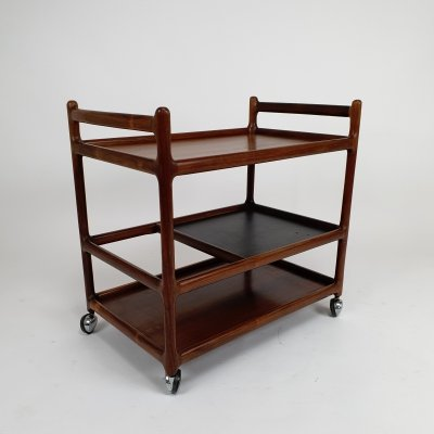 Mid Century Danish Rosewood Barcart by Johannes Andersen for CFC Silkeborg, 1960
