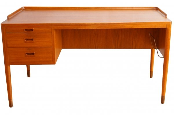 Scandinavian Modern Teak Writing Desk by H. Brockmann Petersen for Poul M. Jessen