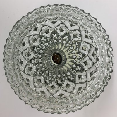Vintage glass ceiling lamp, 1970's