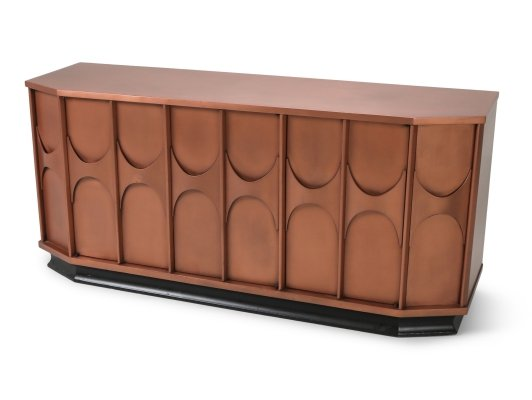 Brutalist Sideboard in Copper Lacquer, 1960s