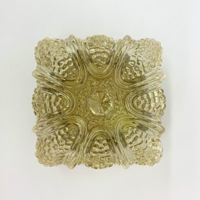 Vintage glass ceiling lamp, 1960's