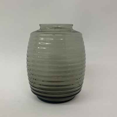 A.D. Copier vase 'tonnetje' by Glasfabriek Leerdam
