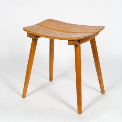 Classic swiss stool in solid ash wood by Jakob Müller