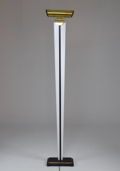 20th Century French Vintage Brass Floor Lamp, 1970s