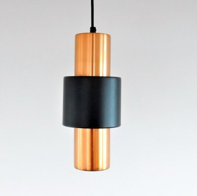 Set of 3 black & copper pendant lamps by Hiemstra Evolux in original boxes