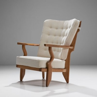 Guillerme et Chambron 'Petit Repos' Lounge Chair, France 1950s