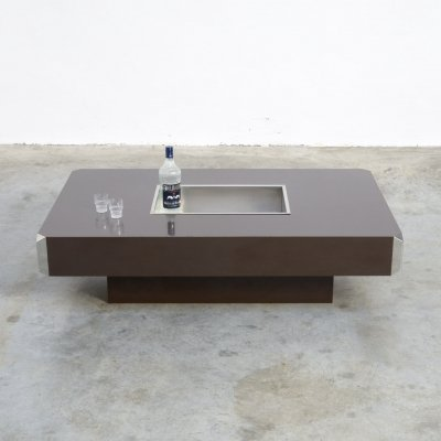 Alveo Bar Table by Willy Rizzo for Mario Sabot