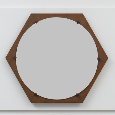 Hexagonal Wall Mirror by ISA Bergamo, 1960s