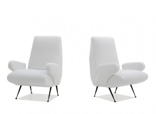 Pair of Nino Zoncada armchairs for Framar, 1950s