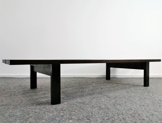 Wenge Slatted Bench 'BZ72' by Martin Visser for 't Spectrum, 1960's