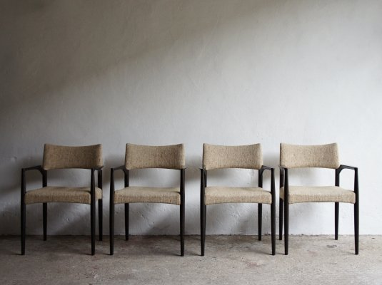 Set of 4 Danish dining chairs, 1970s
