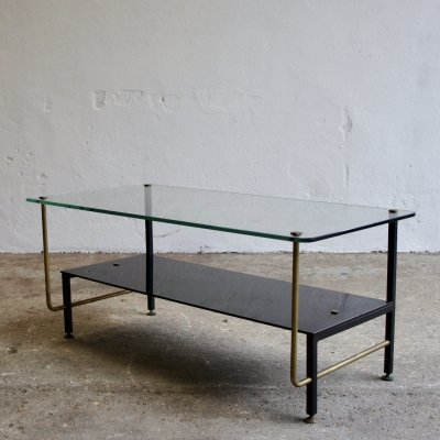 Midcentury French Glass Coffee Table, 1960s