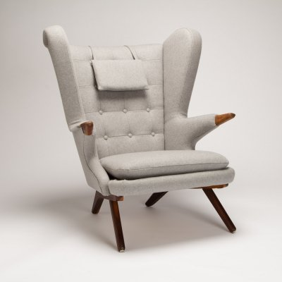 Svend Skipper Model 91 Wing Back Armchair, Denmark 1950s