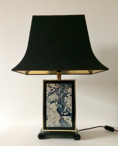 Tu Chin Pagode Table Lamp by Maison Le Dauphin, France 1970's