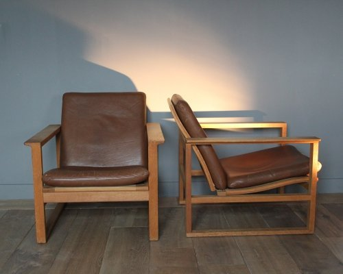 Pair of model 2256 lounge chairs by Børge Mogensen for Fredericia Stolefabrik, 1950s