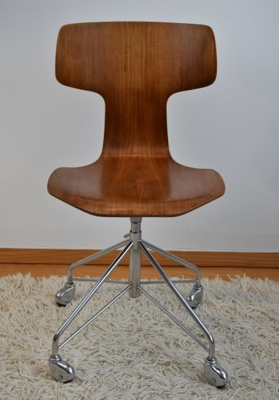 Arne Jacobsen FH 3103 Adjustable Swivel Desk Chair, 1960's
