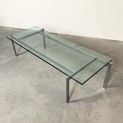 Chrome & Glass Coffee Table, 1960s